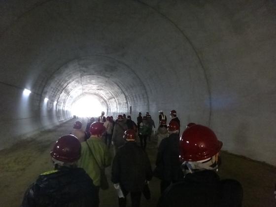 山口トンネル見学会